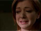Alyson Hannigan en Willow pleurant le départ de Oz