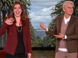 Alyson accueillie sur le plateau par Ellen
